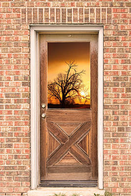 Photograph - Golden Doorway Window View by James BO  Insogna