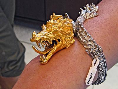 Crete Digital Art - Golden Dragon. Santorini. Greece. by Andy Za