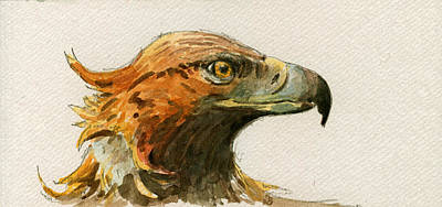 Nocturnal Painting - Golden Eagle by Juan  Bosco