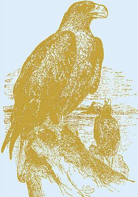 Golden Eagle On Chrome Art Print