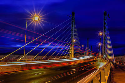 Photograph - Golden Ears Bridge by Wesley Allen Shaw