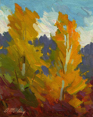 Vine Painting - Golden Fall by Diane McClary