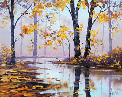 Elm Painting - Golden Fall by Graham Gercken
