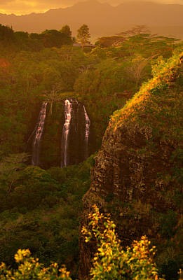 Photograph - Golden Falls by Joshua Cramer