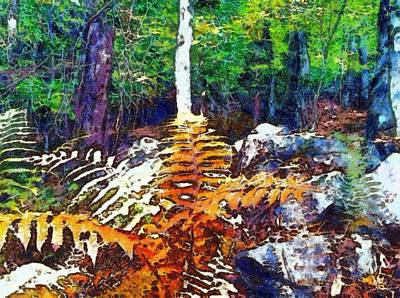 Painting - Golden Ferns by Derek Gedney