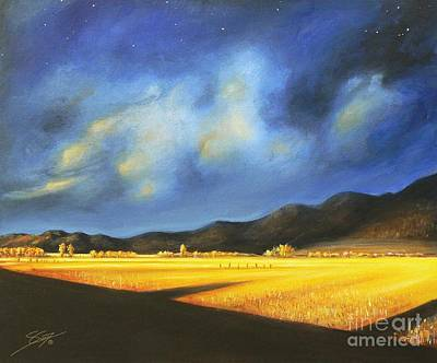 Painting - Golden Fields by Sgn