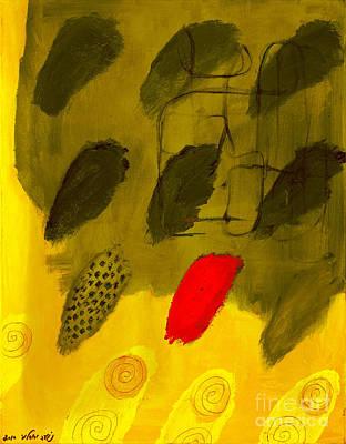 Golden Finger Prints Art Print