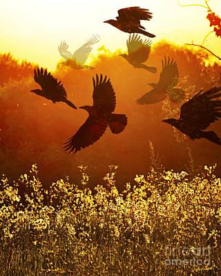 Judy Wood Digital Art - Golden Flight by Judy Wood