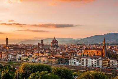 Photograph - Golden Florence by Gurgen Bakhshetsyan
