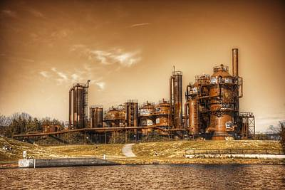 Photograph - Golden Gas Works by Spencer McDonald