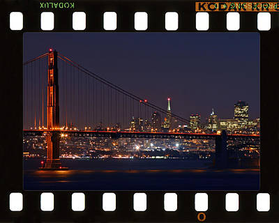 Art Print featuring the photograph Golden Gate 35mm Frame by Christopher McKenzie