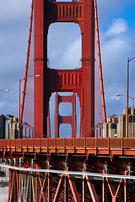 Framed Photograph - Golden Gate Bridge by Adam Romanowicz