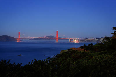 Photograph - Golden Gate At Night by Kyle Simpson