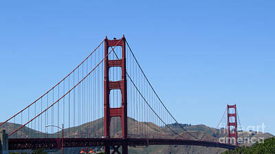 Photograph - Golden Gate Bridge 2 by Mary Mikawoz