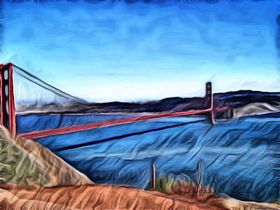 Windy Day At Golden Gate Bridge Art Print