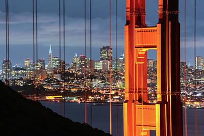 Photograph - Golden Gate Bridge And Cityscape Of San by Chrishepburn