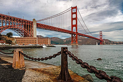 Golden Gate Bridge And Fort Point Art Print