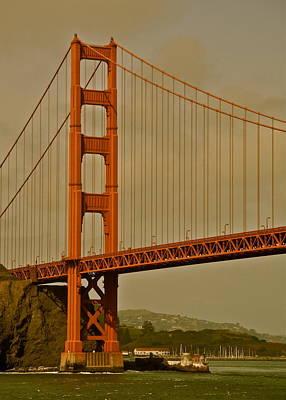 Strau Photograph - Golden Gate Bridge And Marin Headlands by Kirsten Giving