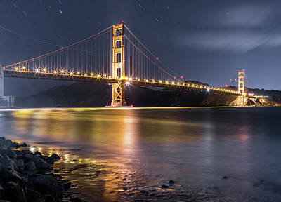 Photograph - Golden Gate Bridge And Skyline Of San by Chinaface