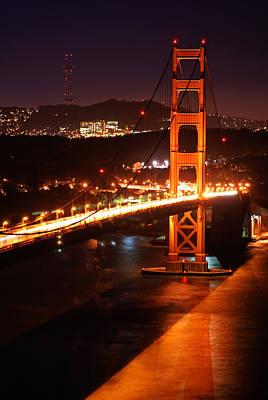 Photograph - Golden Gate Bridge And Sutro Towers by Daniel Woodrum
