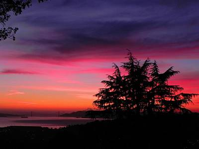 Photograph - Golden Gate Bridge At Dusk by Diane Lynn Hix