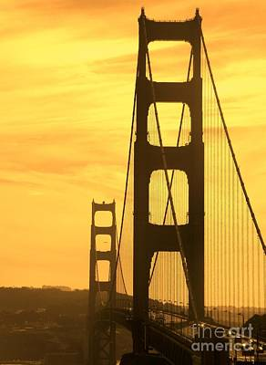 Art Print featuring the photograph Golden Gate Bridge  by Clare Bevan