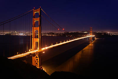 Photograph - Golden Gate Bridge At Twilight by Daniel Woodrum