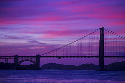 Afterglow Photograph - Golden Gate Bridge At Twilight by Garry Gay