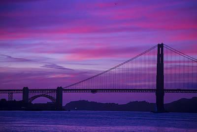 Golden Gate Bridge At Twilight Art Print