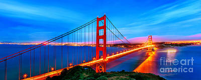 Golden Gate Photograph - Follow The Golden Trail by Az Jackson