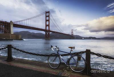 Sausalito Photograph - Golden Gate Bridge Bike Ride by Mel Ashar