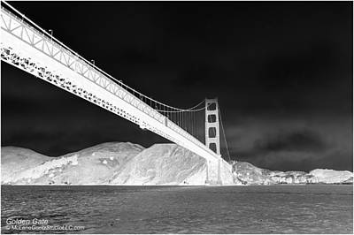 Tower Photograph - Golden Gate Bridge Black And White San Francisco Bay    by LeeAnn McLaneGoetz McLaneGoetzStudioLLCcom