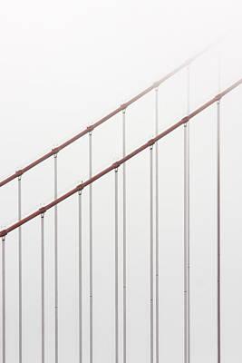 Photograph - Golden Gate Bridge Cable Fog by Chuckschugphotography