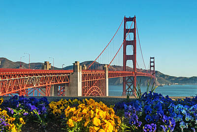 Photograph - Golden Gate Bridge    California by Willie Harper