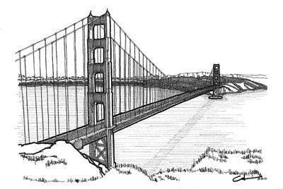 Golden Gate Bridge Art Print by Calvin Durham