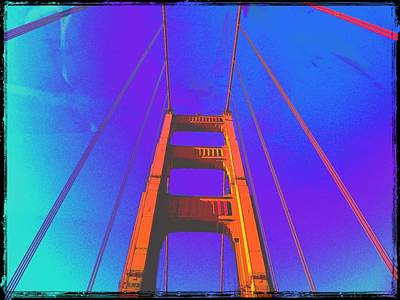 Golden Wall Art - Photograph - Golden Gate Bridge Color by Eugene Evon