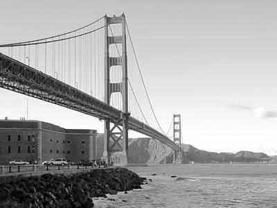 Alcatraz Photograph - Golden Gate Bridge by Daniel Hagerman