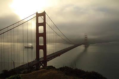 Photograph - Golden Gate Bridge Fog Lifting by Scott Rackers