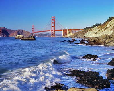 Golden Gate Bridge From Baker Beach San Art Print