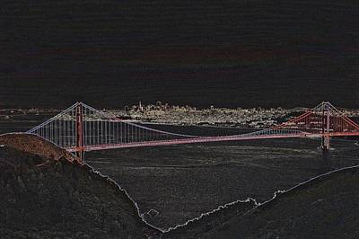 Buildings Photograph - Golden Gate Bridge From Marin Headlands 3 by SC Heffner