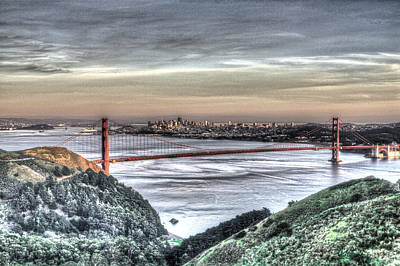 Photograph - Golden Gate Bridge From Marin Headlands 5 by SC Heffner