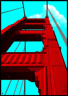 Digital Art - Golden Gate Bridge by Gary Grayson