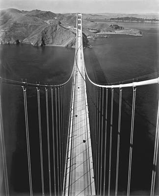 Day-time Photograph - Golden Gate Bridge In 1937 by Underwood Archives