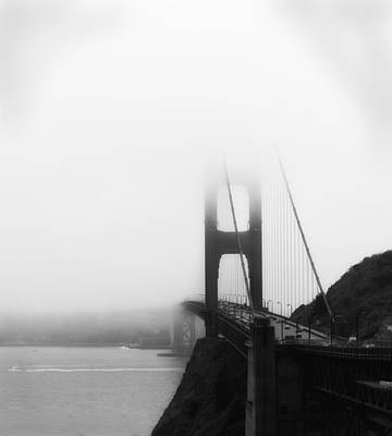 Art Print featuring the photograph Golden Gate Bridge In Fog ... Sausalito Side by Chuck Caramella