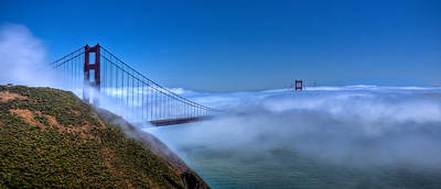 Photograph - Golden Gate Bridge In Fog by Jonny D