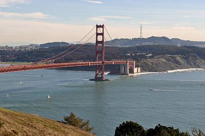 Golden Gate Bridge Photograph - Golden Gate Bridge In San Francisco California by Brandon Bourdages
