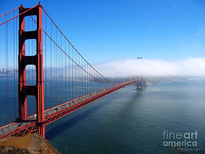 Golden Gate Bridge - Into The Mist Art Print by Pete Edmunds