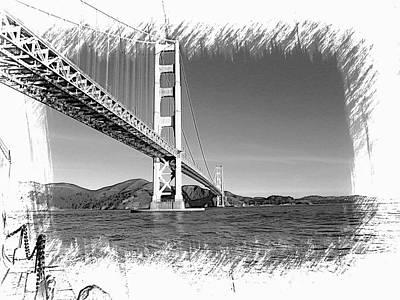 Golden Gate Bridge Art Print by Kathy Churchman