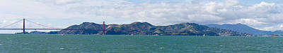Bay Bridge Photograph - Golden Gate Bridge, Marin Headlands by Panoramic Images
