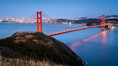 Art Print featuring the photograph Golden Gate Bridge by Mihai Andritoiu